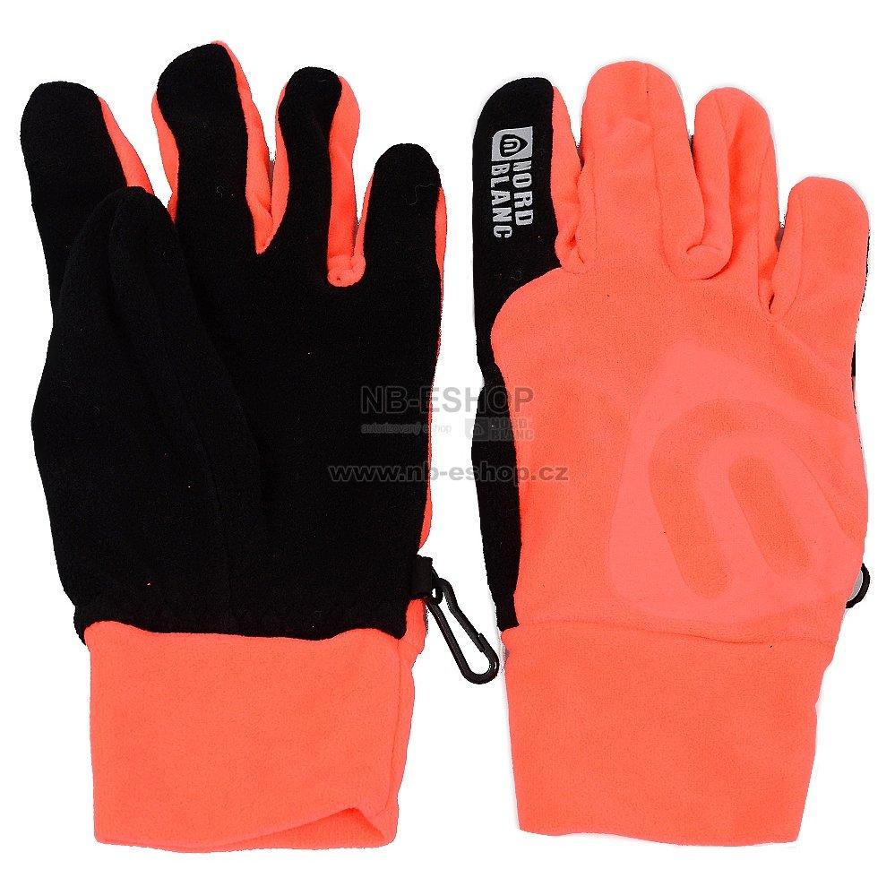 d4cd7cf6a3f Fleecové rukavice NORDBLANC BRAVERY NBWGF4696 OHNIVÝ KORÁL velikost ...