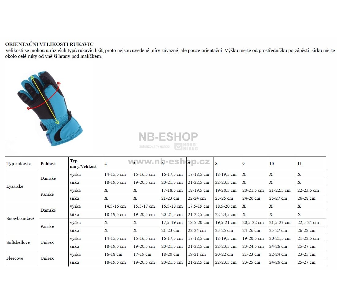 Lyžařské rukavice NORDBLANC TRULY NBWG5976 ČERNOŠEDÁ velikost  4 ... 469cafd1d7