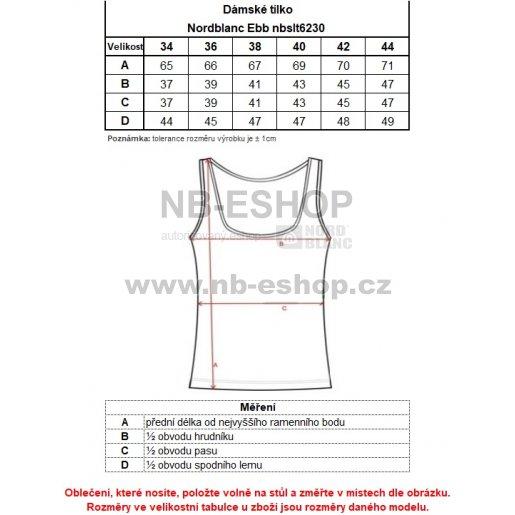 Dámské tílko NORDBLANC EBB NBSLT6230 BÍLÁ