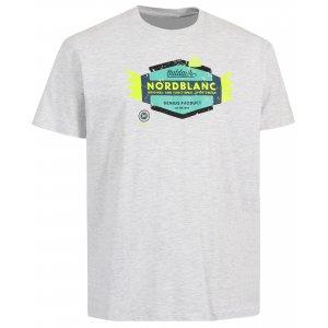 Pánské tričko NORDBLANC WING NBSMT6205 SVĚTLE ŠEDÝ MELÍR