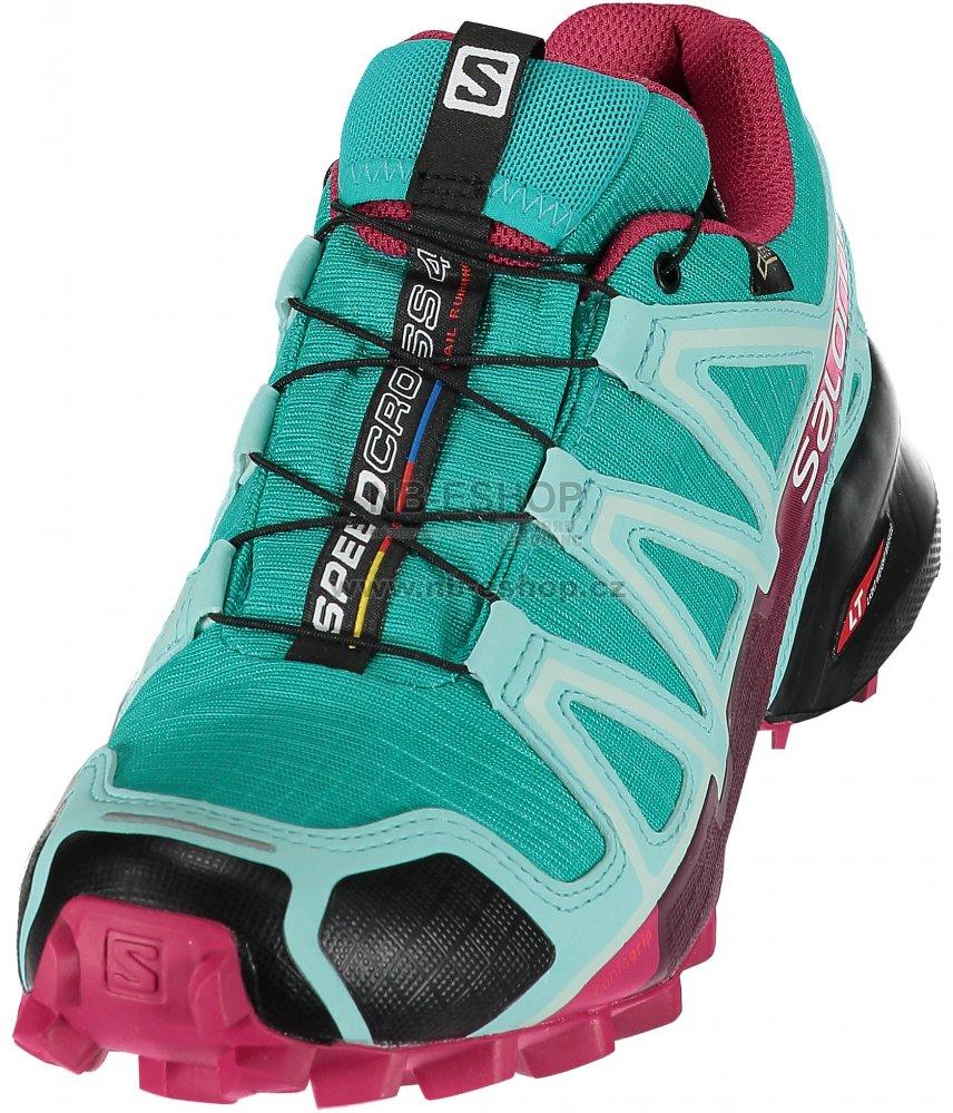 04b1f364093 Dámské běžecké boty SALOMON SPEEDCROSS 4 GTX® W L39466700 CERAMIC ARUBA  BLUE SANGRIA