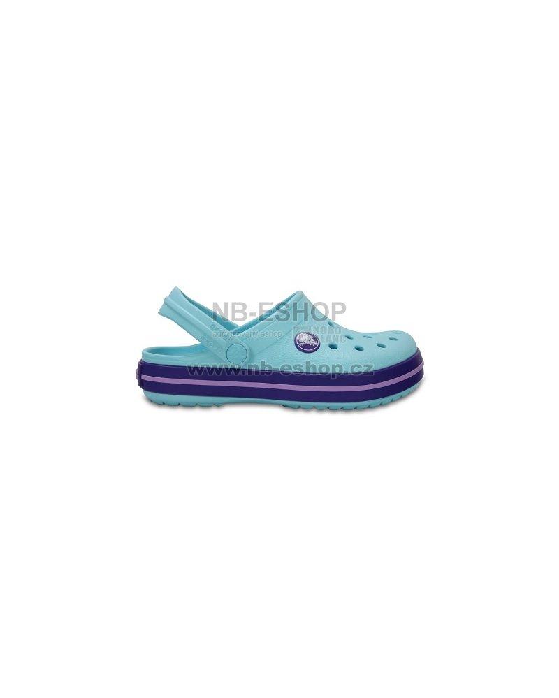 bea9fe3cac3 Dětské pantofle CROCS CROCBAND CLOG K 204537-4O9 ICE BLUE velikost ...