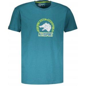 Pánské tričko s krátkým rukávem ALTISPORT LOULAD TYRKYSOVÁ