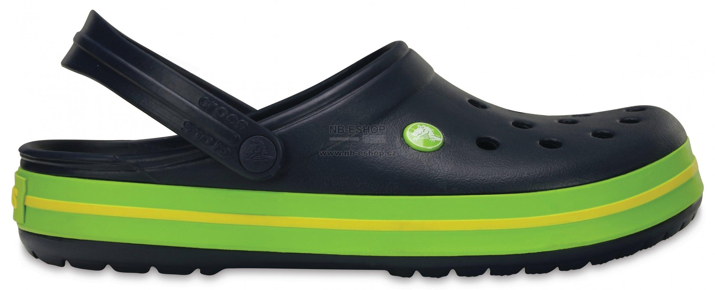 41dcf115050 Pánské pantofle CROCS CROCBAND 11016-40I NAVY VOLT GREEN LEMON ...