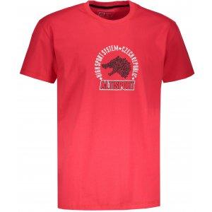 Pánské tričko s krátkým rukávem ALTISPORT LOULAD ČERVENÁ