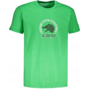 Pánské tričko s krátkým rukávem ALTISPORT LOULAD ZELENÁ