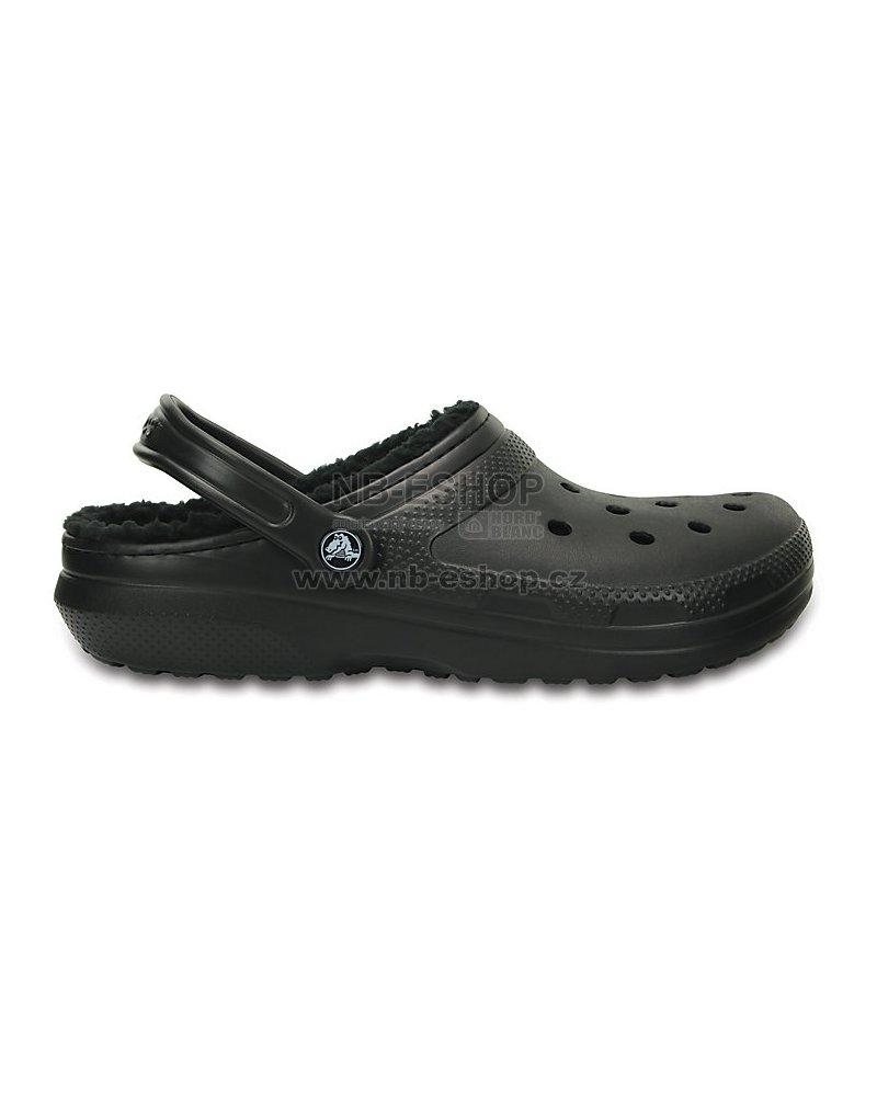 45b2b4c37b3 Pánské pantofle CROCS CLASSIC LINED CLOG 203591-060 BLACK BLACK ...