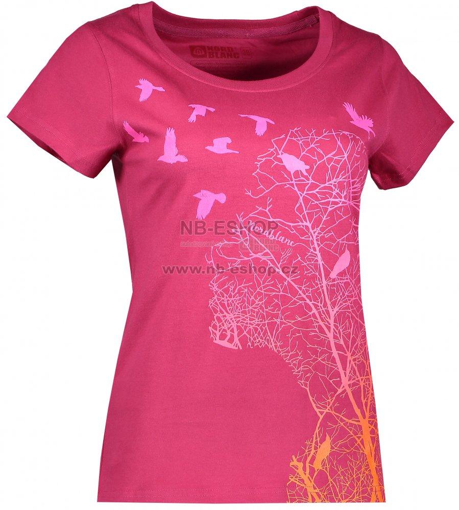 58096e9074d9 Dámské tričko NORDBLANC VACANT NBFLT6565 ČERVENÁ MALINA velikost  40 ...