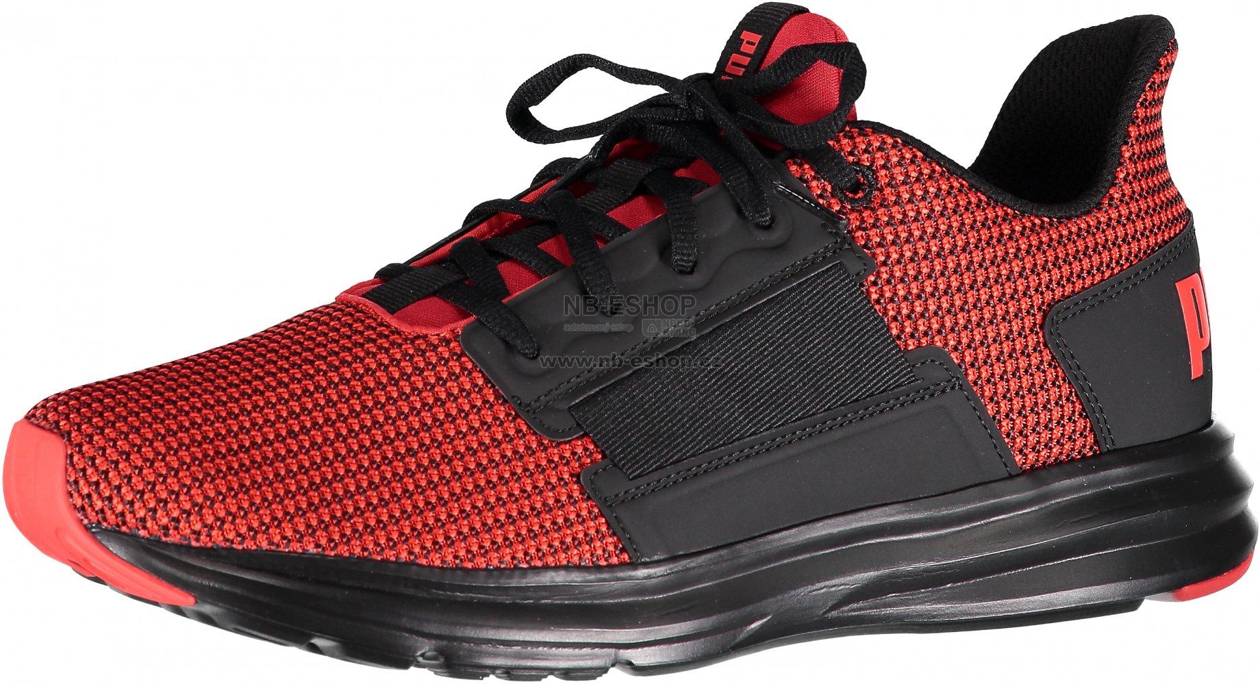 9053be5943e Pánská běžecká obuv PUMA ENZO STREET KNIT 19046502 FLAME SCARLET PUMA BLACK
