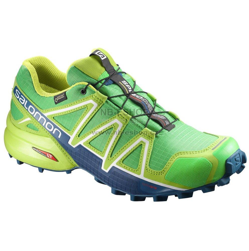 fd19e121931 Pánské běžecké boty SALOMON SPEEDCROSS 4 GTX® L39843000 CLASSIC GREEN LIME  GREEN POSEIDON
