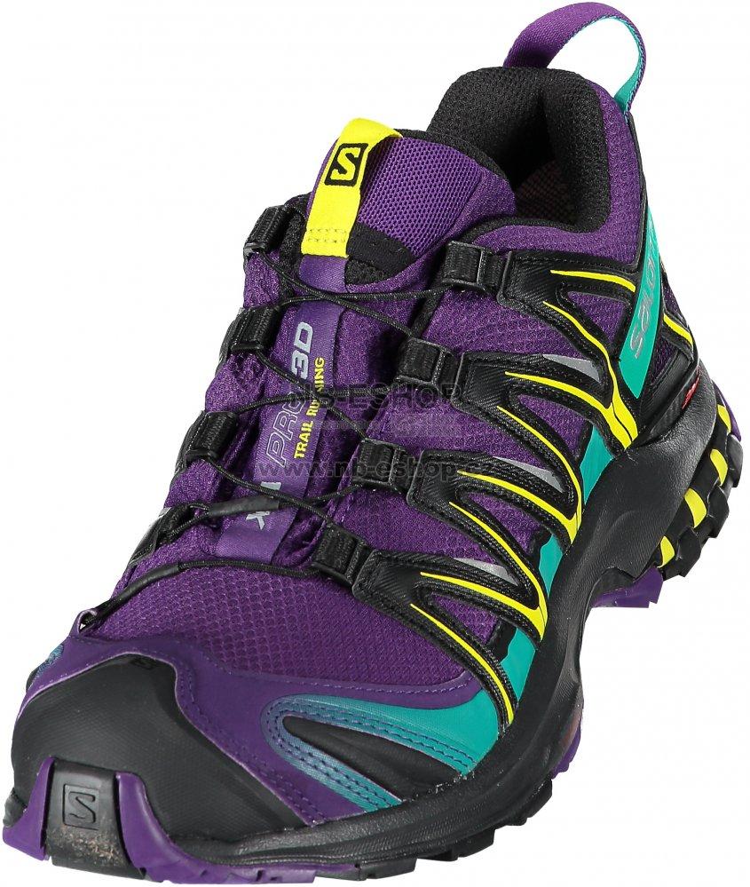 Dámské trekové boty SALOMON XA PRO 3D GTX® W L39967800 ACAI BLACK DYNASTY c253b08a55