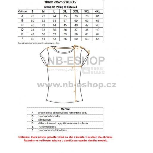Pánské triko s krátkým rukávem ALTISPORT PELAG MTSN424 TMAVĚ MODRÁ