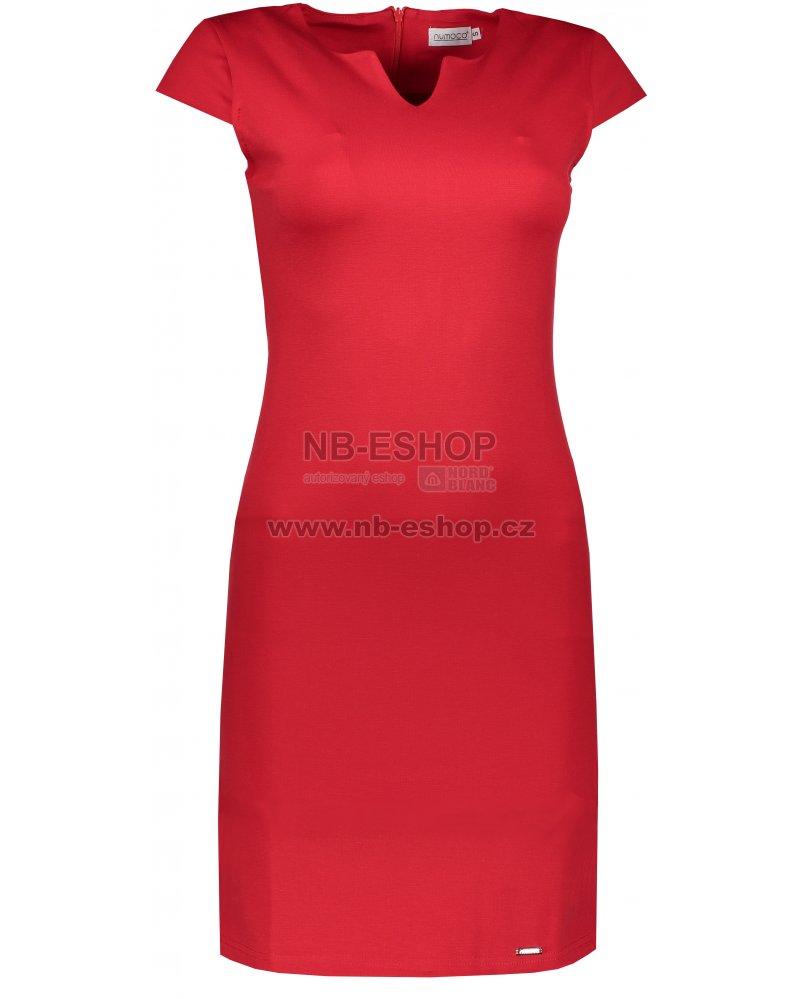 38fa3be2c63 Dámské šaty NUMOCO A132-2 ČERVENÁ velikost  S   NB-ESHOP.cz