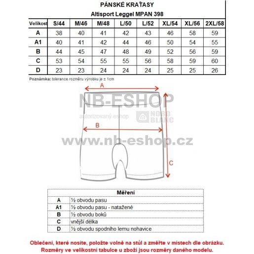 Pánské kraťasy ALTISPORT LEGGEL MPAN398 MODRÁ