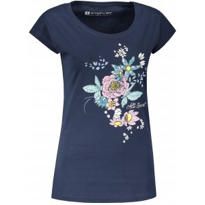 Dámské triko s krátkým rukávem ALTISPORT ODRIA LTSN524 TMAVĚ MODRÁ