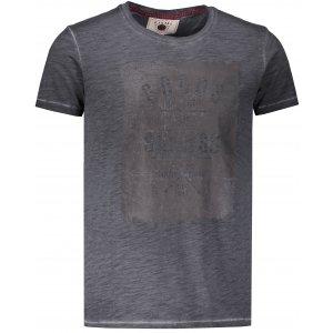 Pánské triko s krátkým rukávem KIXMI HINES ŠEDÁ