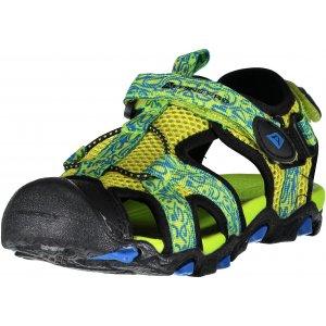 Dětské sandále ALPINE PRO BARBIELO KBTN190 SVĚTLE ZELENÁ