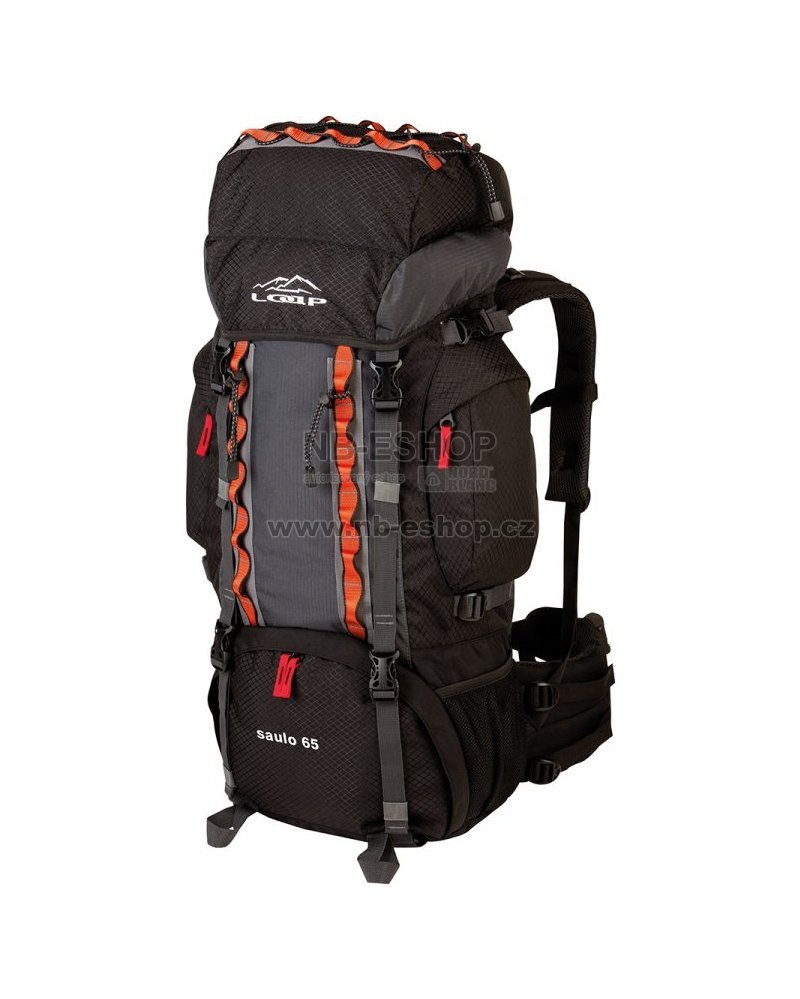 61873e4e47 Turistický batoh LOAP SAULO 65 BE1706 ČERNOŠEDÁ velikost  65 l   NB ...
