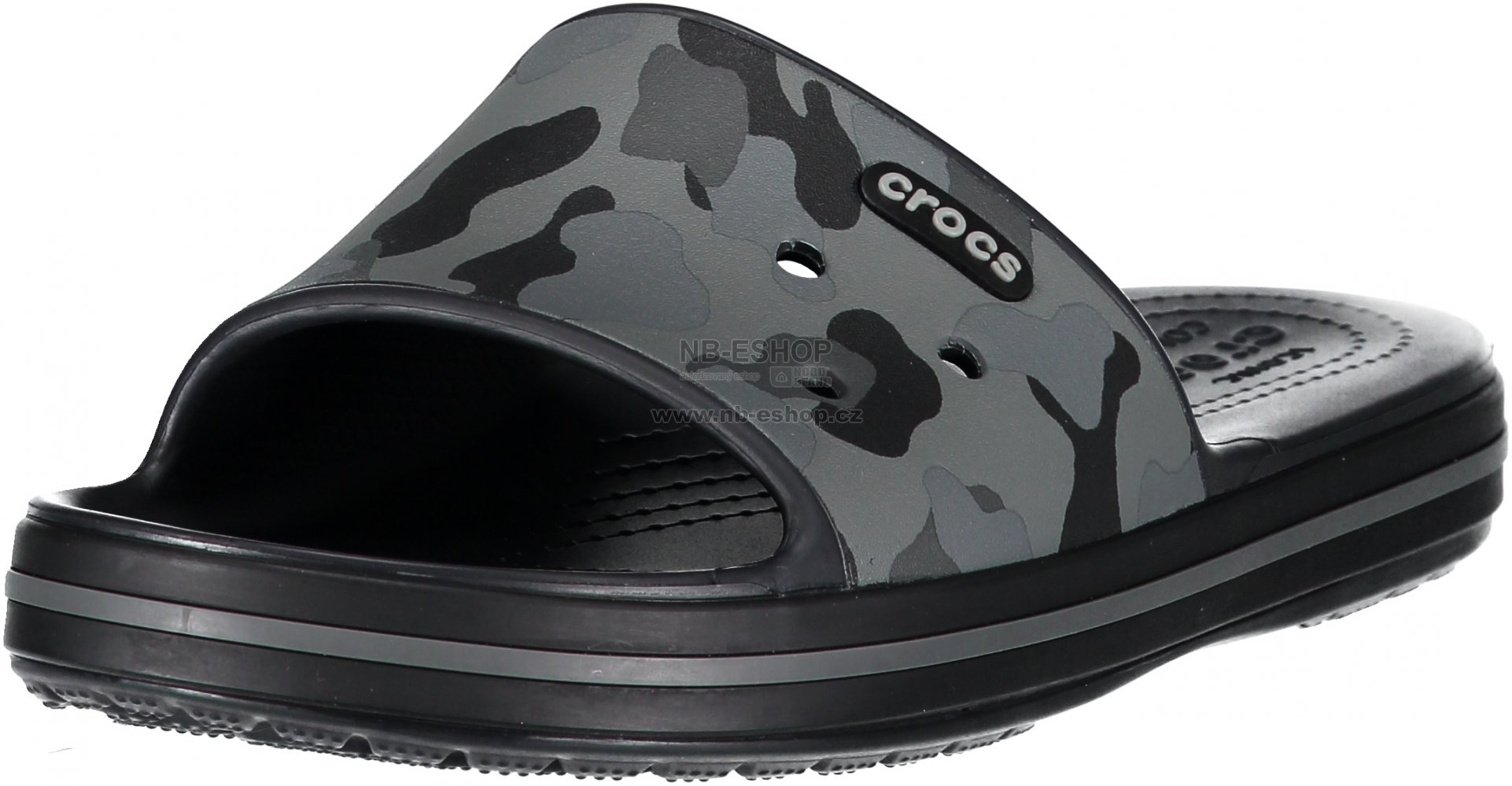 683f5332d8 Pánské pantofle CROCS CROCBAND III 205583-0DY SLATE GREY BLACK ...