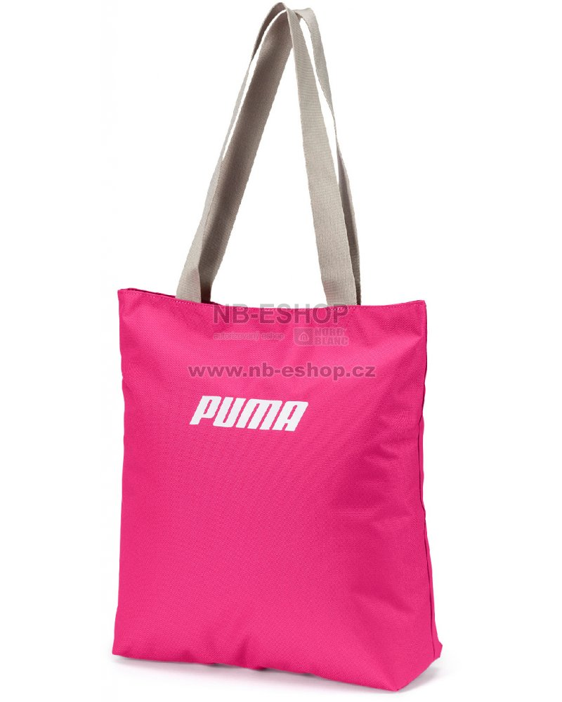 12e6d5ea72 Dámská taška PUMA WMN CORE SHOPPER 07571104 FUCHSIA PURPLE SILVER GRAY