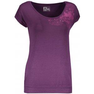 Dámské triko s krátkým rukávem ALTISPORT TSARA TMAVĚ FIALOVÁ