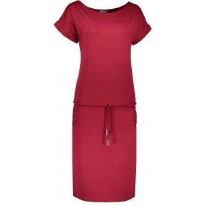 Dámské šaty NUMOCO A139-5 VÍNOVÁ