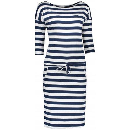 Dámské šaty NUMOCO A13-46 MODRÁ PRUHY