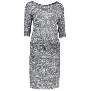 Dámské šaty NUMOCO A13-14 TMAVĚ ŠEDÁ VZOR
