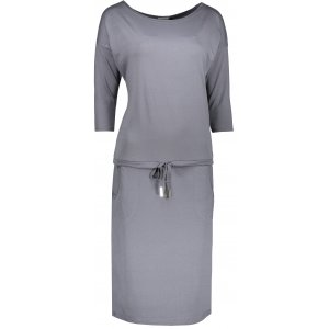 Dámské šaty NUMOCO A13-75 TMAVĚ ŠEDÁ