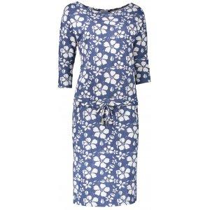 Dámské šaty NUMOCO A13-62 BÍLÉ KVĚTY