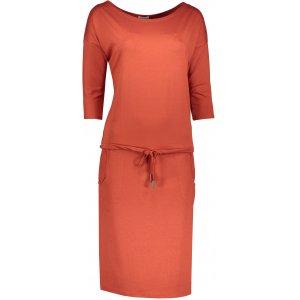 Dámské šaty NUMOCO A13-84 ORANŽOVÁ