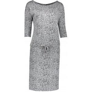 Dámské šaty NUMOCO A13-10 SVĚTLE ŠEDÁ VZOR