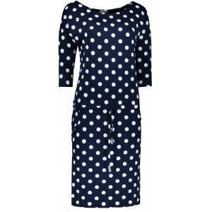 Dámské šaty NUMOCO A13-101 BÍLÉ PUNTÍKY