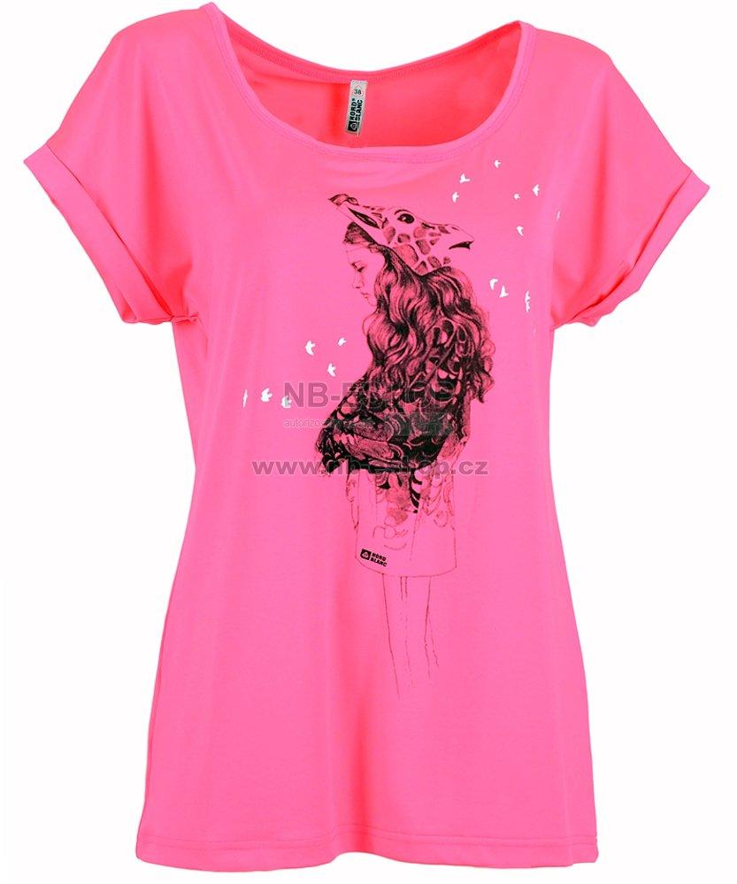 9c4cdbcac21 Dámské tričko NORDBLANC GIRAFFE NBSLT5049 KNOCKOUT RŮŽOVÁ velikost ...